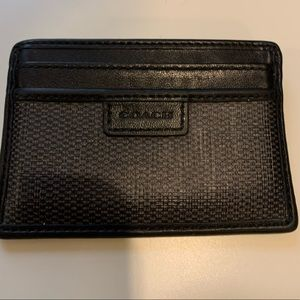 Coach black and grey card holder/wallet